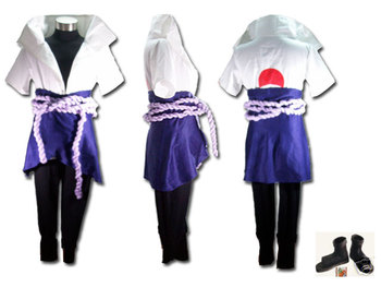 2014 Most poluar cheapest Wholesale In stockNaruto Costume Sasuke Uchiha Cosplay Costume P.IV for party