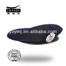 Wool army style berets with 100% wool