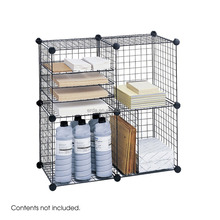 Wire Cubes Storage - Black