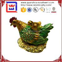 Wholesale Metal Chicken Animal Figurine For