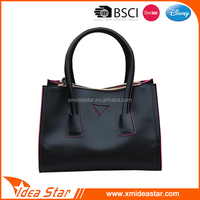China wholesale classy women pu leather tote bags fashion