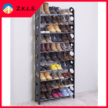 10 Layer Free Assembly Cheap Plastic Shoe Rack