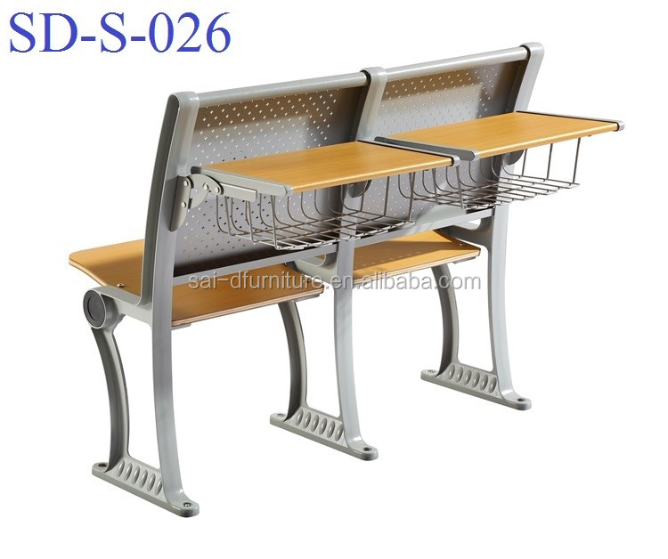 Foldable University Desk And Chair For School, University Classroom Table With Chair Set SD-S-026