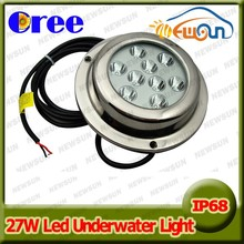 27w IP68 100% waterproof underwater aquarium light led, beautiful decration light underwater