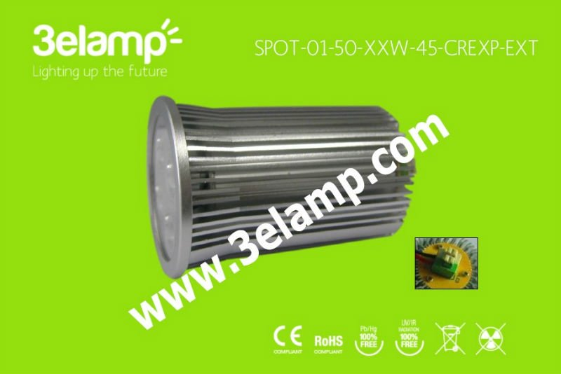 MR16 LED lamp 3 or 4 x2w - USA CREE XP-E with External Driver