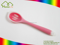 ECO-friendly Food grade Kitchen utensil colored plastic silicone slotted spoon