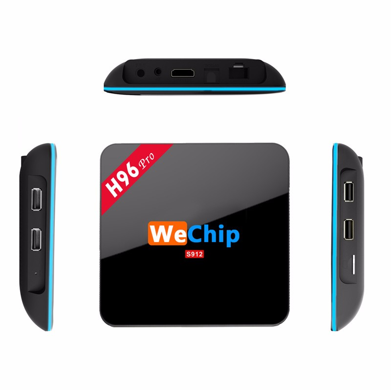 Wechip H96 pro Octa Core amlogic s912 2G 16G android 6.0 tv box with dual Wifi 2.4GHZ/5.8GHZ kodi 17.0 4K android tv box