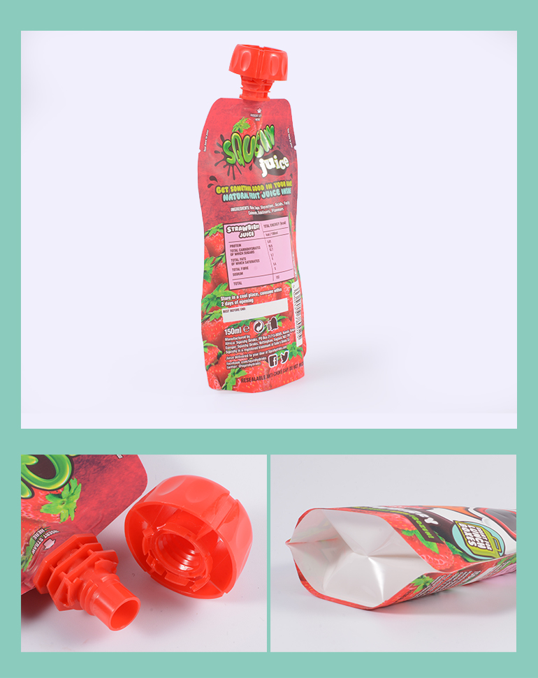 New Style Flexible Stand Up Liquid Drink Pouch With Spout Packaging
