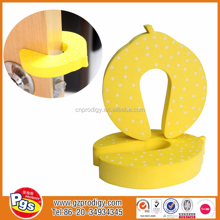 Low price and cute shape Cartoon EVA door slam stopper eva door stop baby safety cushion guard