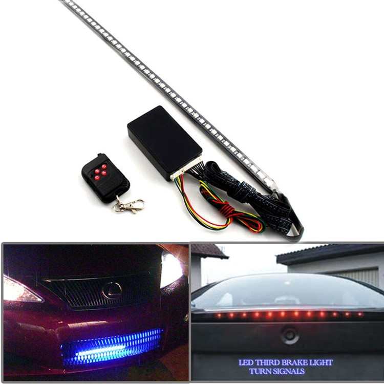22 inch 48 led knight rider lights scanner bars car strobe. Black Bedroom Furniture Sets. Home Design Ideas