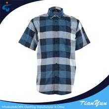 Custom design High quality new cotton oxford short sleeves shirt