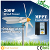 China manufactured 200W 12V 24V low wind power generator