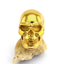 Plain Golden Plated Stainless Steel Skull Ring r003584