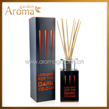 Home Air Freshener Use Reed Diffuser with Contrast Color Glass Bottle