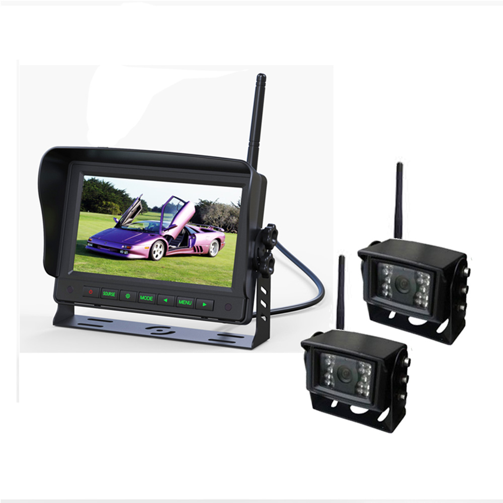 Wireless Security Backup Camera Digital Car Roof Monitor System