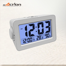 Large digit desktop professional clock with light sensor& rotary button