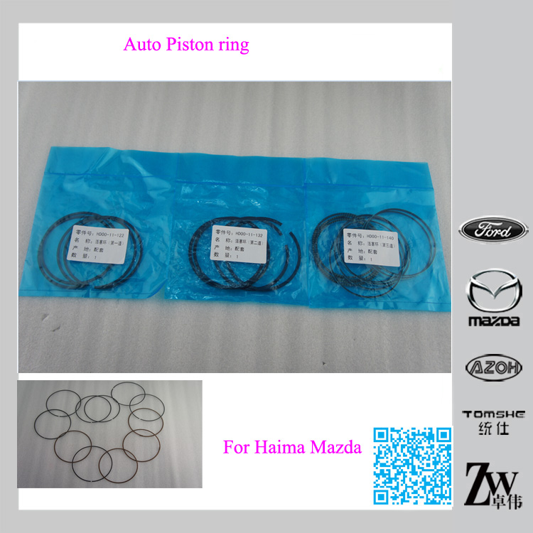 New Arrival Original auto accessories Piston Ring Oem HD00-11-102, HD00-11-132,HD00-11-141 for Haima cars