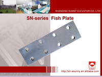 Hot Sale! Shanghai Sunny Elevator Parts Guide rail fish plate