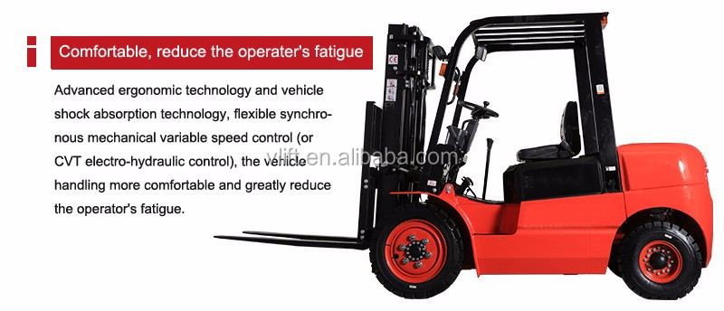 mechanical hand manual Diesel forklift 3 ton