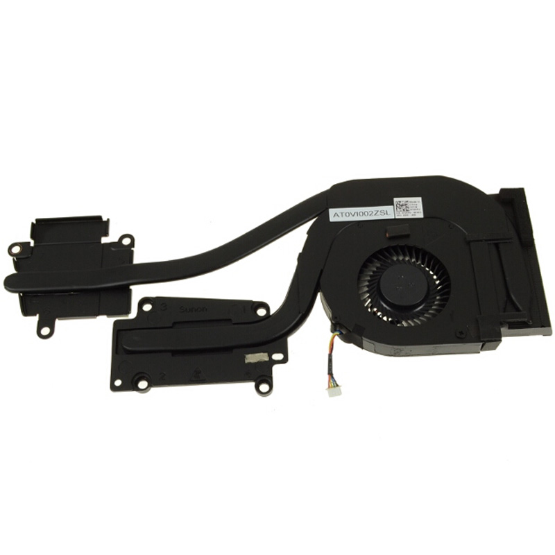 72XRJ CPU FAN and Heatsink Assembly 72XRJ For Discrete AMD Radeon Graphics Heatsink For Dell Latitude E6540