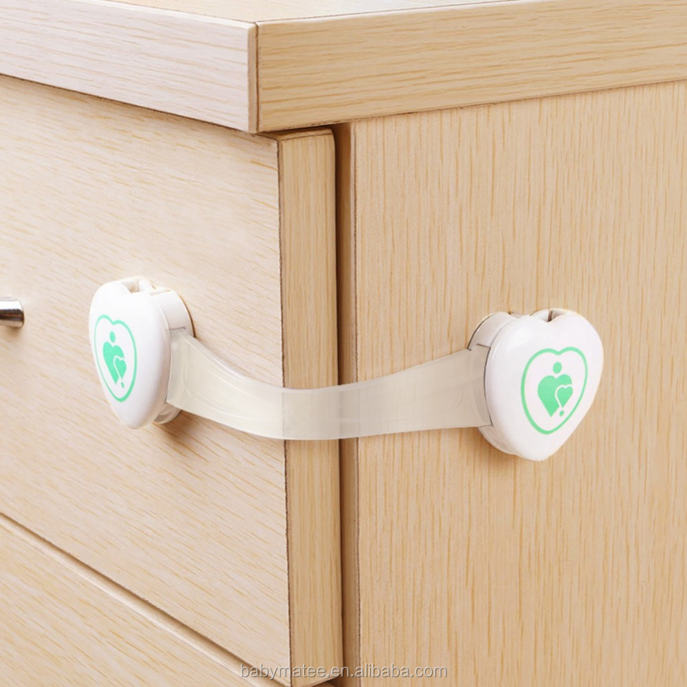 Baby Proofing Adjustable Cabinet Locks plastic latch/ door latch for Cabinets & Appliances Baby safety drawer lock
