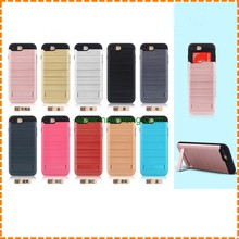 Factory Price 2 in 1 Hybrid TPU + PC Wire drawing stand phone case for iphone 7