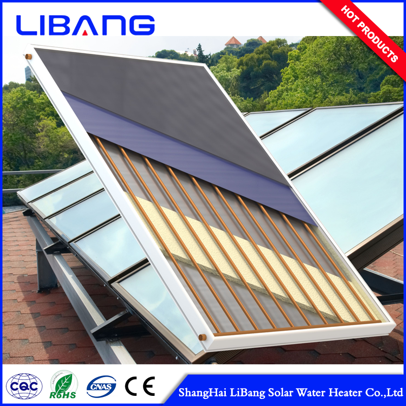 solar water heater copper flat plate fin tube collector