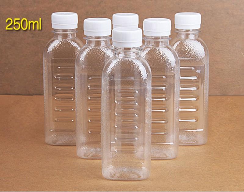 Awcp09 Pwb Pet Plastic Square Juice Bottle Plastic Water