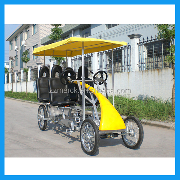 Four Wheels Two Person Surrey Sightseeing Bike for Sale