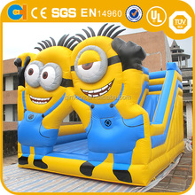 Hot sale inflatable Despicable Me bouncer,Yellow cartoon jumping/bouncy castle with slide,Used commercial minion bounce house