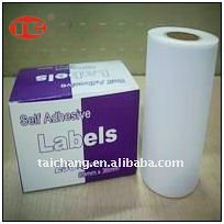 Self Adhesive Blank Label Sticker,roll label
