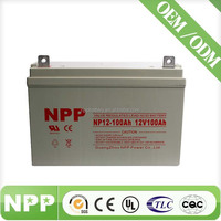 maintenance free AGM VRLA Solar battery 12V 100AH
