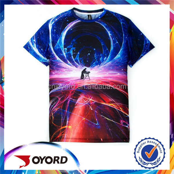 Cheap Custom Made Digital Printing Tee Shirt