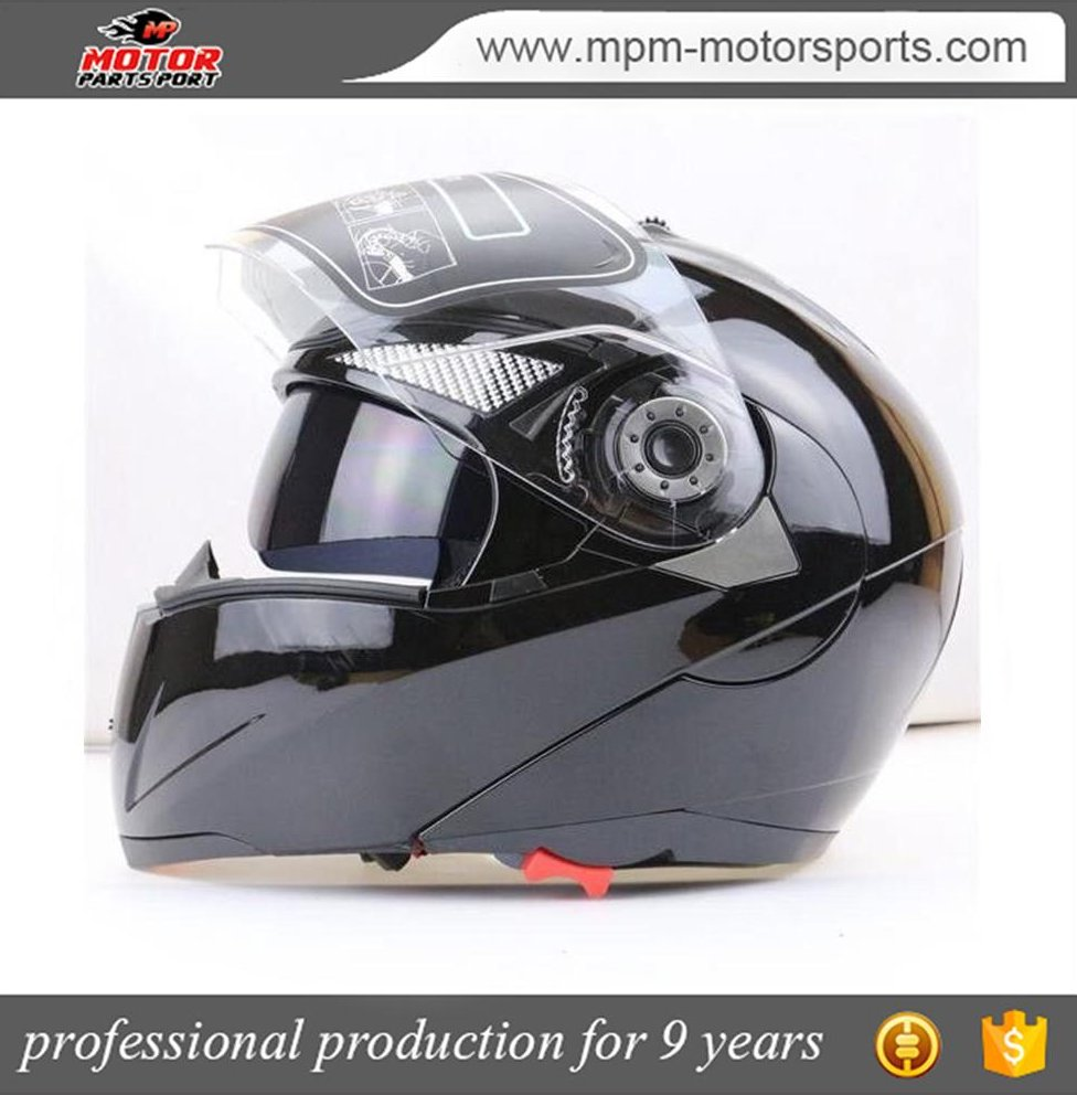 Double Visor dot Full Face Motorcycle Helmet with goggles