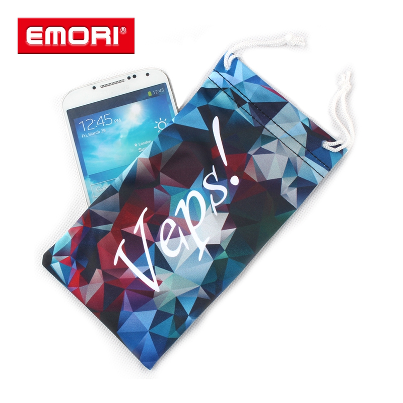 2017 Best Seller Full Color Print Fashion tablet microfiber cleaning pouch manufacturer