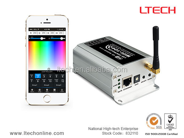 4 channels LED strip WIFI RGB/RGBW controller/ CT dimmer with iphone, ipad and android phone