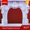 cheap caved natural indoor marble fireplace