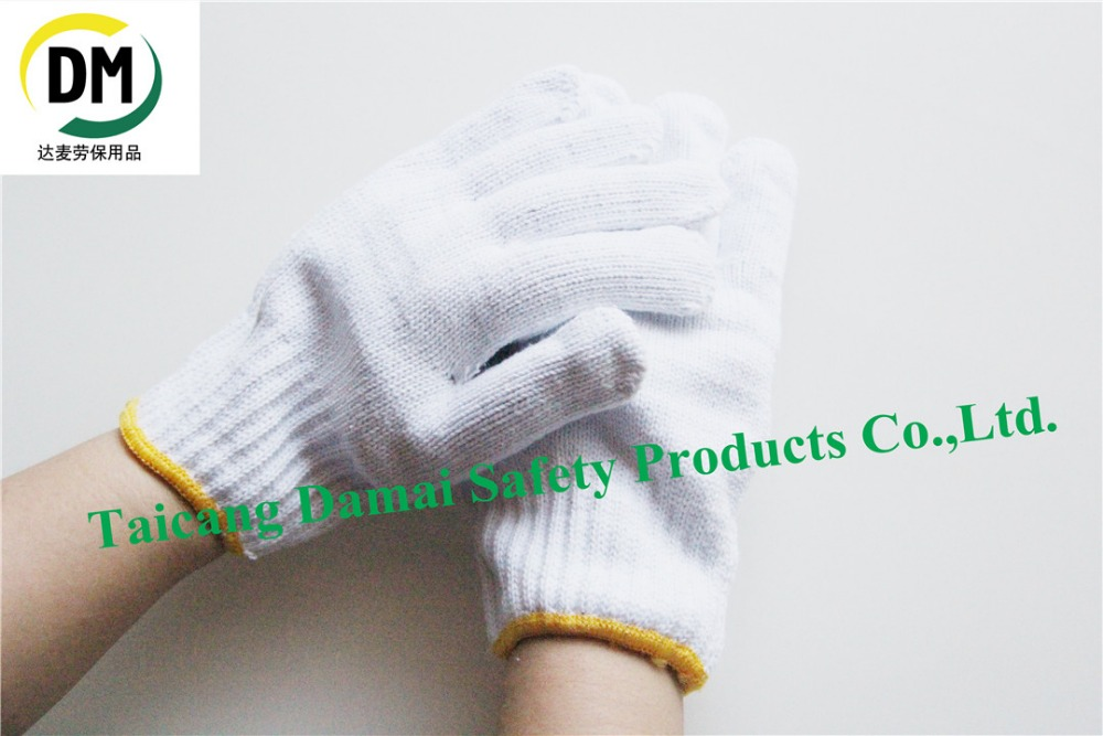 Gardening use best selling wool spinning knitted cotton working glove