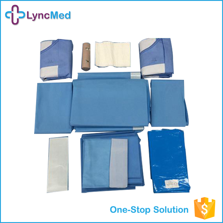 Wholesale OEM high quality sterile surgical gown pack