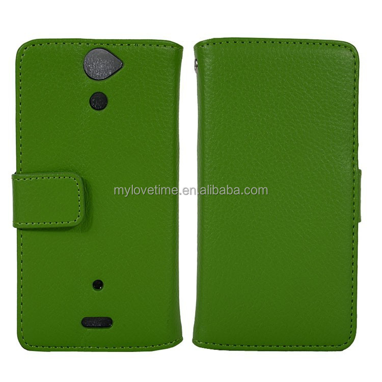 wholesale ultra-thin flip leather case cover for sony Lt25i