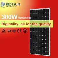 monocrystalline photovoltaic cell solar panels 300 watt for solar lighting system