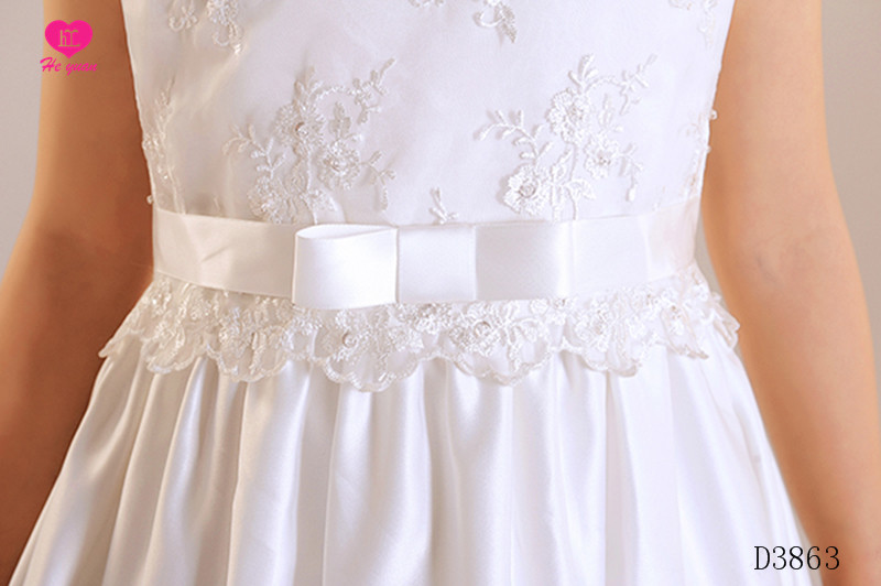 D3863 The new girl first communion dress flower girl wedding dress