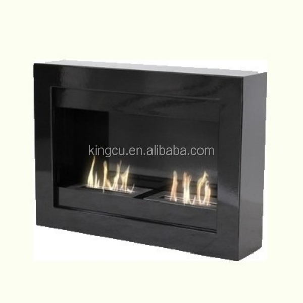 Unique modern fireplace designs wall mounted build instainless steel alcohol fireplace