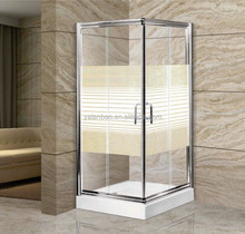 hanging door aluminum frame tempered glass shower enclosure/shower room