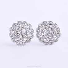 925 sun silver jewelry earring with cz wholesale ear piercing studs studex ear piercing studs for women