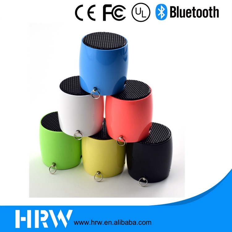 2017 Tiny Micro Bluetooth Speaker with selfie shuter/Microphone HRW-BH040 for Smartphone