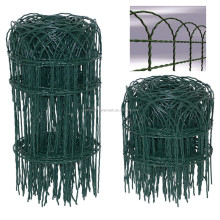 Beautiful garden border fence / plastic coated lawns decorative border fence / Green wire garden edging fence