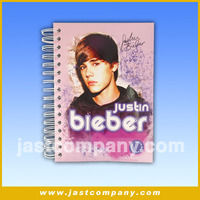 Justin Bieber Gift Music Diary, Custom Light Up Notebook, Wholesale Journal