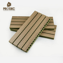 Sound insulation wooden grooved acoustic panel sound proof board