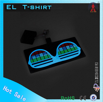 2016 custom design LED t-shirt electroluminescent el t-shirt panel